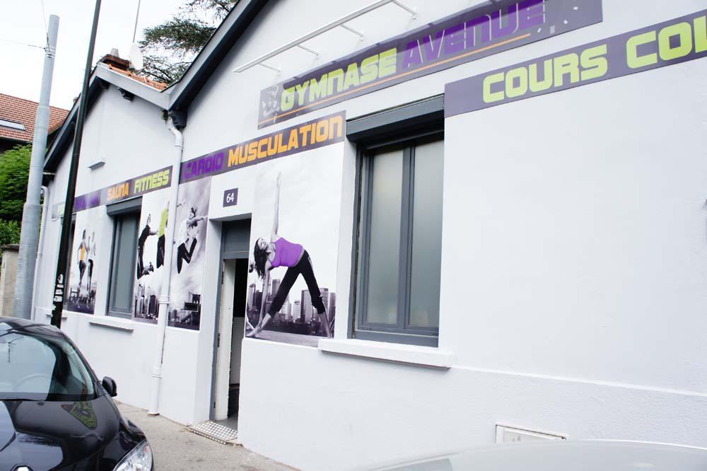 Salle de sport projet façade, Pauline Rudolf, architecte d'intérieur Lyon France