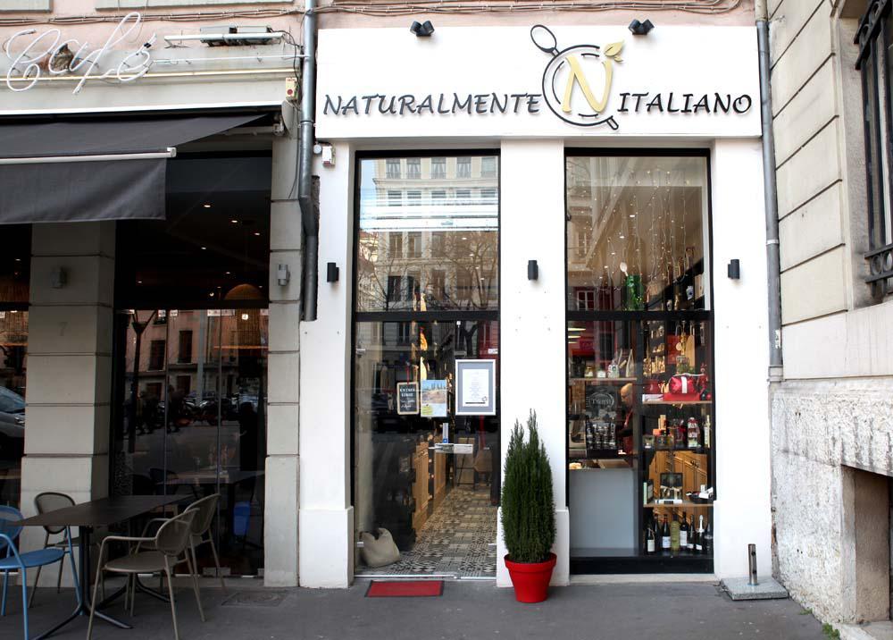 Projet Naturalmente Italiano Traiteur Epicerie Lyon6, Pauline Rudolf, architecte d'intérieur Lyon France