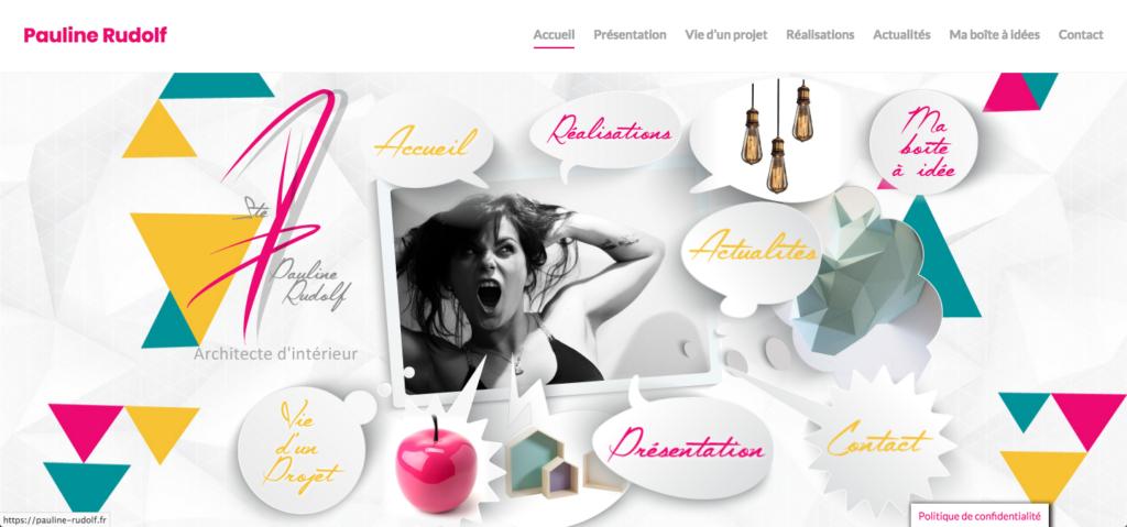 site web, Pauline Rudolf, Architecte d'intérieur, région de Lyon