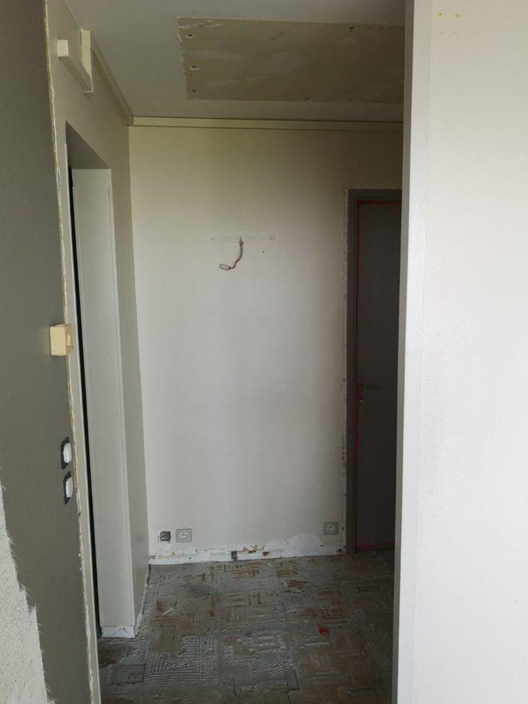 Chantier démolition appartement particulier Pauline Rudolf, Architecte d'intérieur, région de Lyon