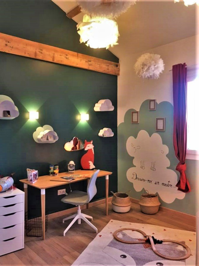 Chambre d'enfant Petit Prince, Pauline Rudolf, Architecte d'intérieur, région de Lyon