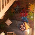 Chambre d'ado, street art, Pauline Rudolf, Architecte d'intérieur, région de Lyon