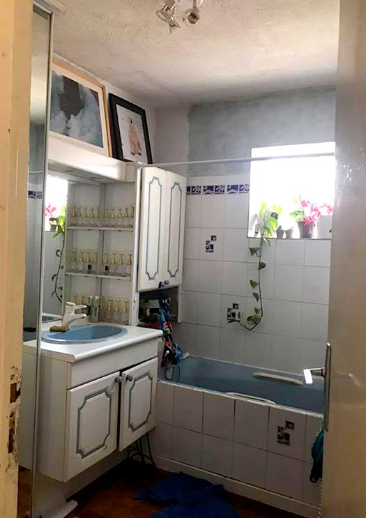 Réhabilitation d'une suite parentale salle de bain avant