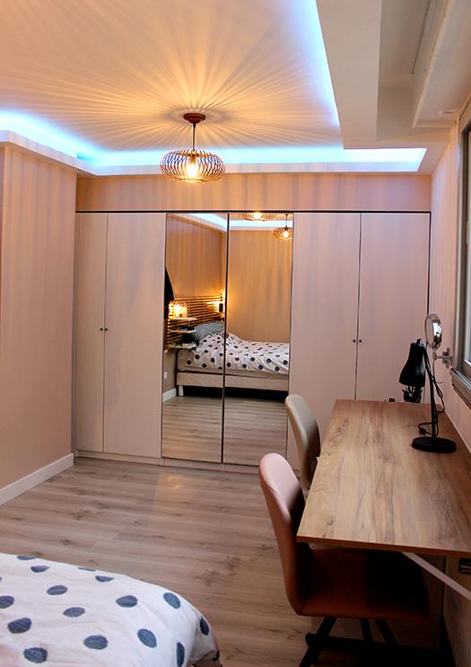 Renovation appartement Lyon 6e chambre parentale