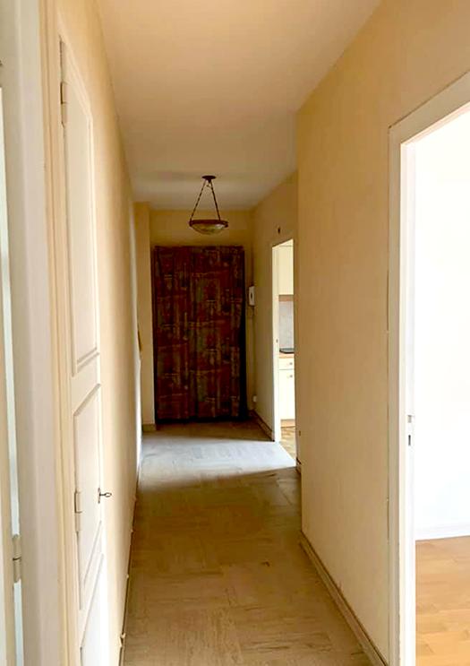 Renovation appartement Lyon 6e, couloir entrée - Les Paupiettes SARL Pauline Rudolf