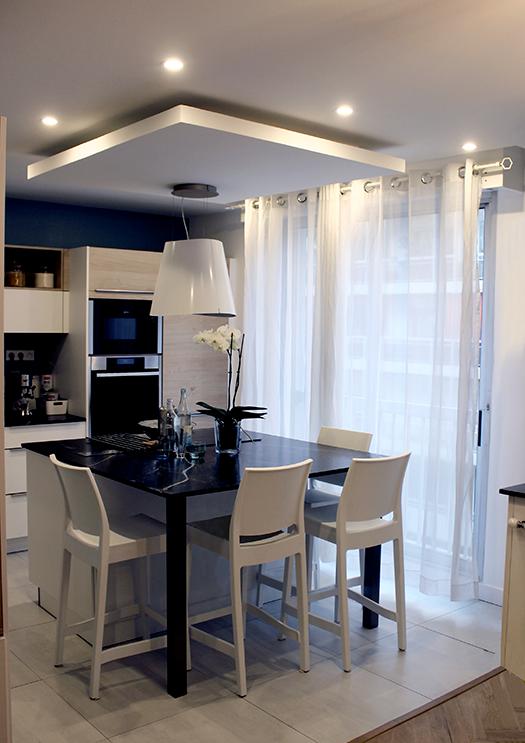Renovation appartement Lyon 6e cuisine moderne galerie
