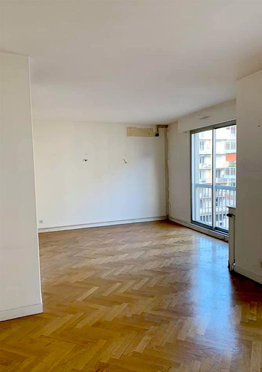 Renovation appartement Lyon 6e, pièce de vie - Les Paupiettes SARL Pauline Rudolf (2)