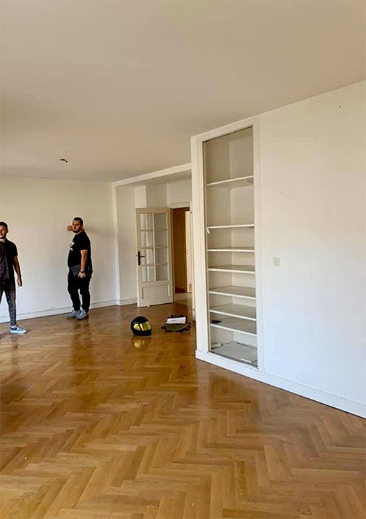 Renovation appartement Lyon 6e, pièce de vie - Les Paupiettes SARL Pauline Rudolf