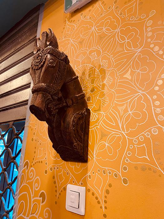 Amenagement décoration murale salle , Adonys, restaurant libanais lyon