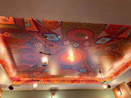 Amenagement décoration plafonnier salle, Adonys, restaurant libanais lyon