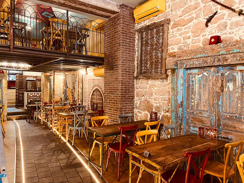 Amenagement decoration salle, Adonys, restaurant libanais lyon, projet SARL Pauline Rudolf, Les Paupiettes