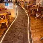 Amenagement sol lumineux salle , Adonys, restaurant libanais lyon