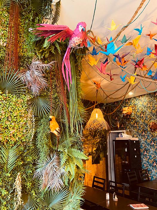 Cafe jungle Lyon 9 décoration aménagement tropical