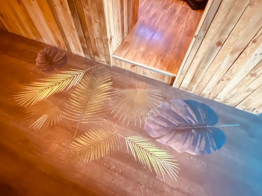 Cafe jungle Lyon 9 décoration habillage sol