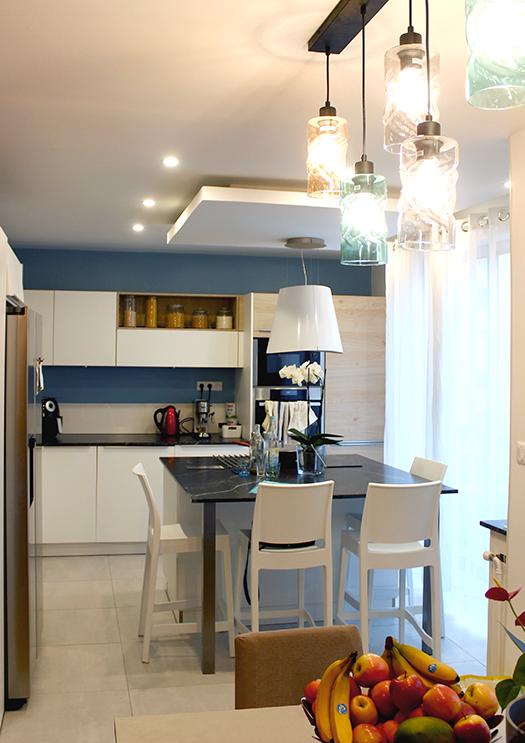 Renovation appartement Lyon 6e cuisine moderne