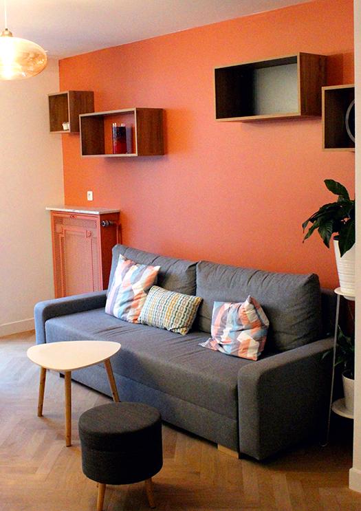Renovation appartement Lyon 6e salon