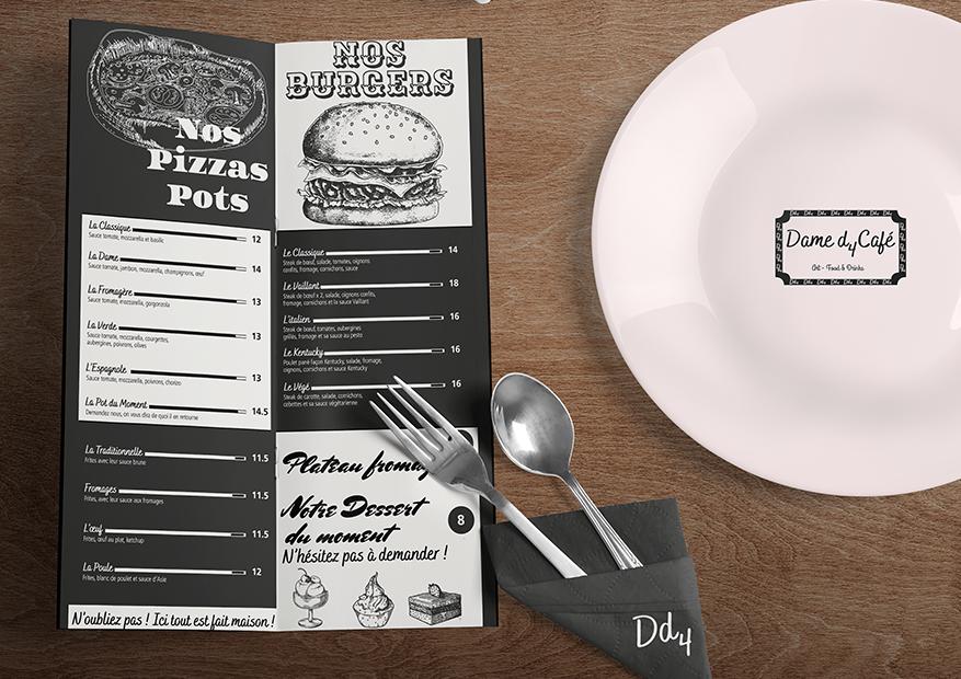 restaurant-menu-mockup- les paupiettes Pauline Rudolf graphisme design lyon