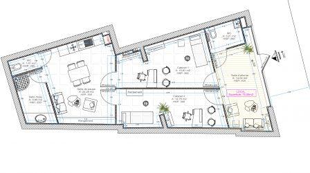 Plan architecte, Pauline Rudolf, architecte d'intérieur Lyon France